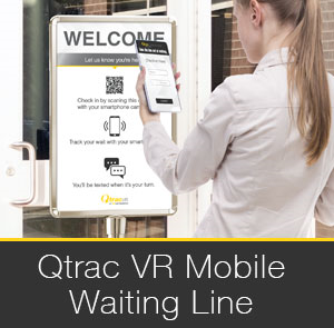 Qtrac VR Contactless Queuing/Smartphone Waiting Line