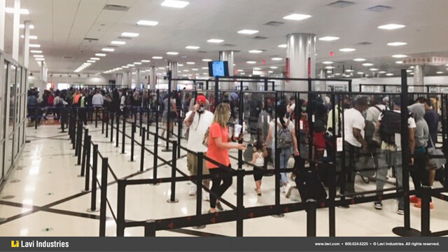Airport,Government,Barriers,Queuing,Security,SocialDistancing,MagneticBase,Stanchions,QueueGuard