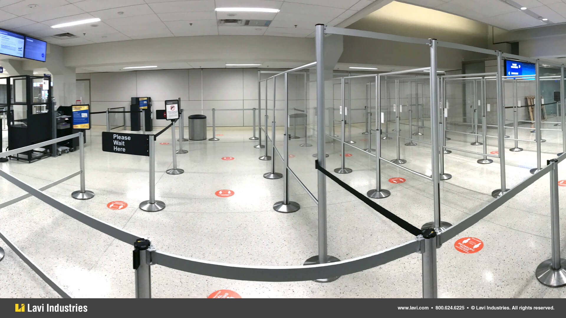 Airport,Barriers,Queuing,Signage,SocialDistancing,RigidRail,Stanchions,SwingGate,QueueGuard