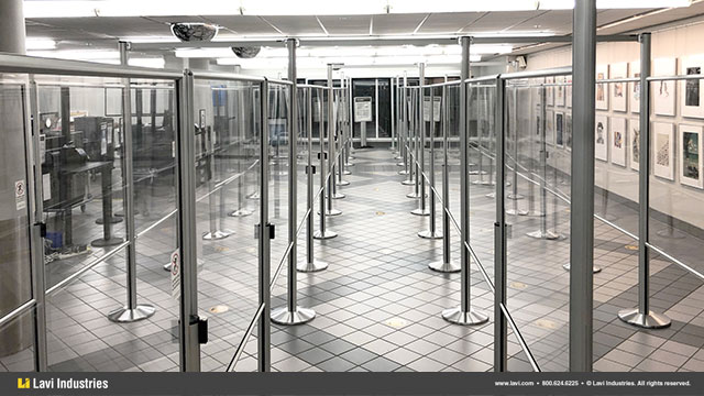 Airport,Government,Barriers,Queuing,Security,Signage,SocialDistancing,Directrac,QueueGuard,RigidRail,Stanchions