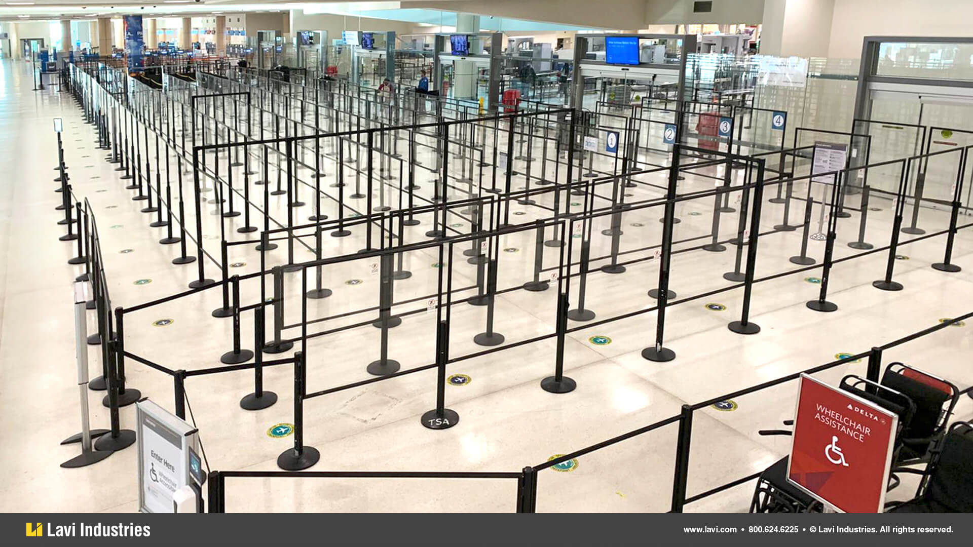 Airport,Government,Barriers,Queuing,Security,SocialDistancing,Directrac,RigidRail,Stanchions,QueueGuard