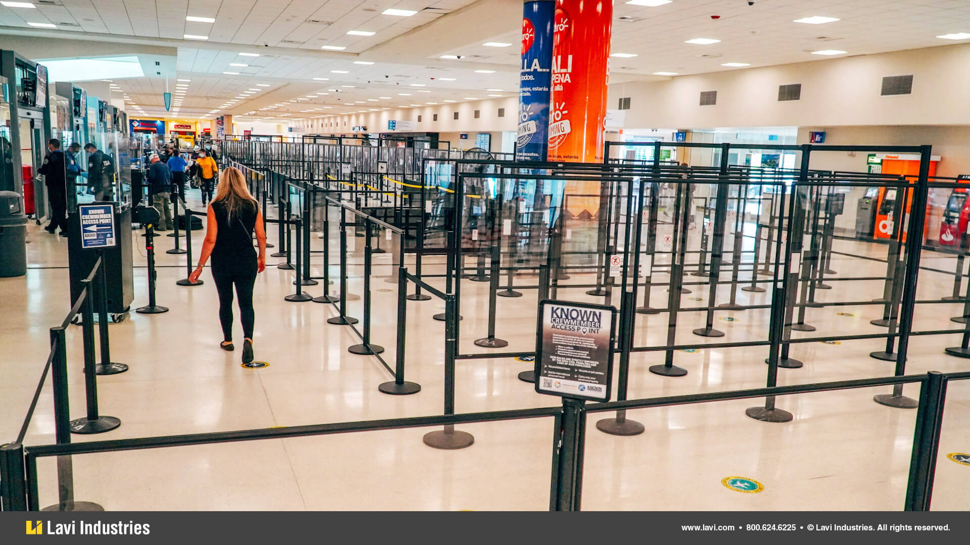 Airport,Government,Barriers,Queuing,Security,SocialDistancing,RigidRail,Stanchions,QueueGuard